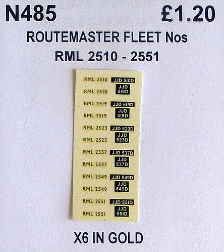 Gold RML 2510, 2519, 2523, 2537, 2549, 2351