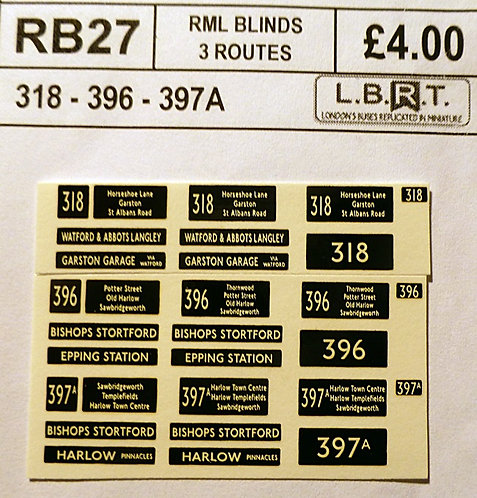 Set Of RM Blinds (318, 396, 397A)