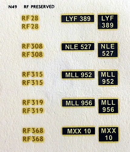 Gold RF28, RF308, RF315, RF319, RF368