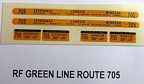 Green Line RF Route 705 (1960-70's)