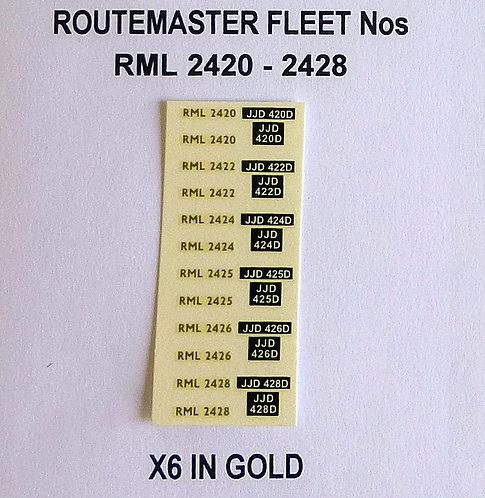 Gold RML 2420, 2422, 2424, 2425, 2426, 2428
