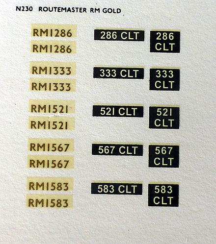 Gold RM1286, RM1333, RM1521, RM1567, RM1583