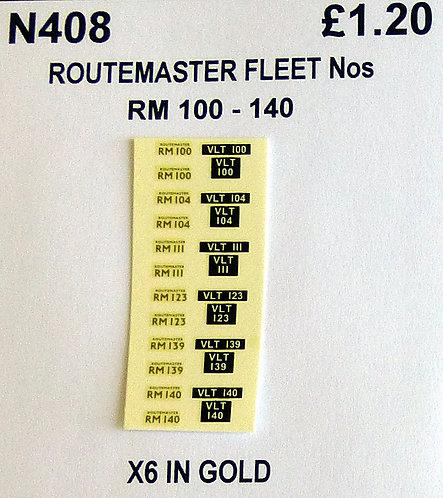 Gold RM 100, 104, 111, 123, 139, 140