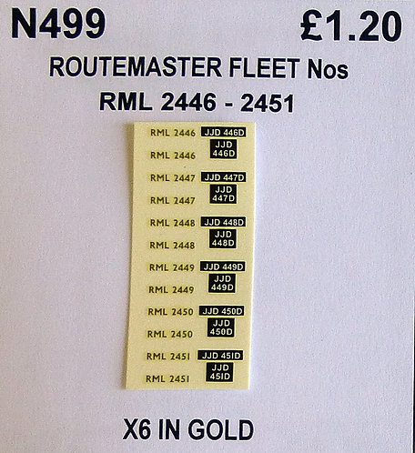Gold RML 2446, 2447, 2448, 2449, 2450, 2451