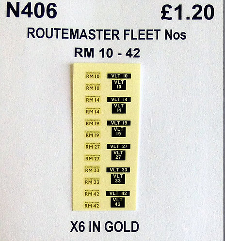 Gold RM 10, 14, 19, 27, 33, 42