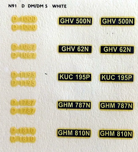 White D1000, D1062, D1195, D1787, D1810
