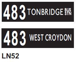 Leyland National Blind  Route 483