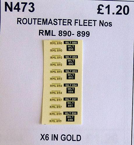 Gold RML 890, 892, 893, 894, 897, 899