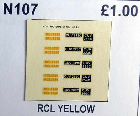 Yellow RCL2218, RCL2223, RCL2239, RCL2254, RCL2260