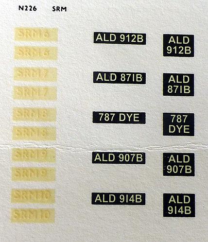 White SRM6, SRM7, SRM8, SRM9, SRM10