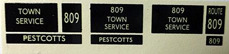 RT Route 809  (Single Destination)