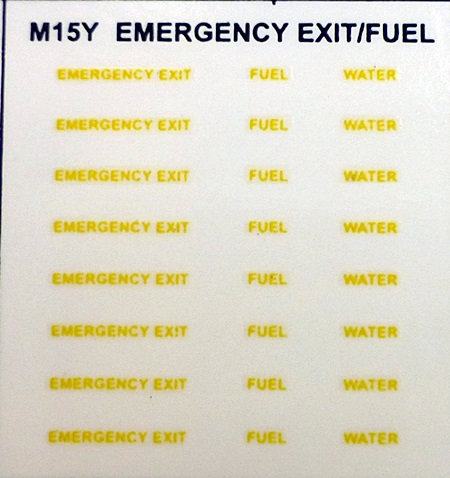EMERGENCY EXIT FUEL WATER