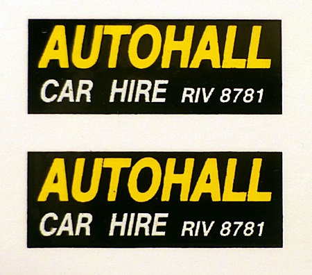 AUTOHALL REAR ADVERTS
