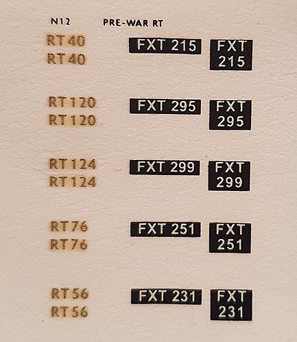 Gold RT40, RT120, RT124, RT76, RT56