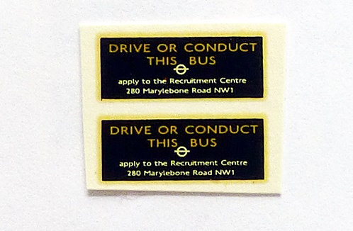 Drive Or Conduct This Bus