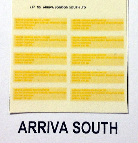 Legal Lettering  Arriva South