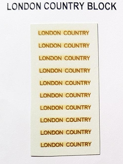 Fleet Names  London Country Block
