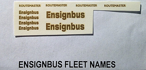 Fleet Name Sets  Ensignbus