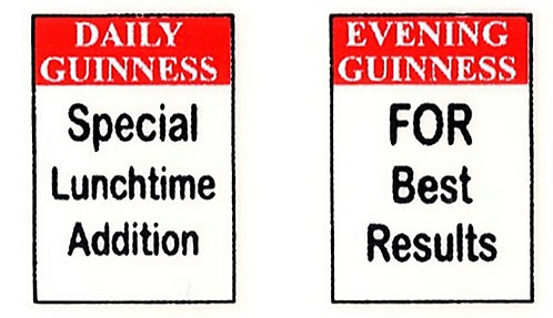 GUINNESS FRONT ADVERTS