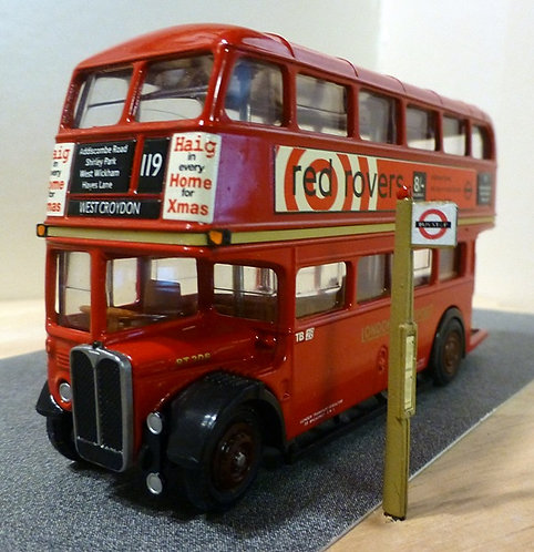 White Metal Bus Stop (Fully Painted & Finished)