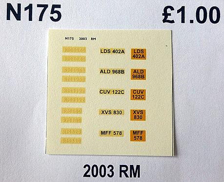 White RM180, RM329, RM1145, RM1968, RM2122