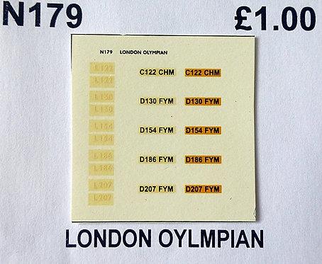 White L122, L130, L154, L186, L207