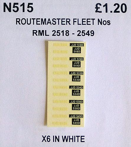 White RML 2518, 2519, 2533, 2534, 2538, 2549