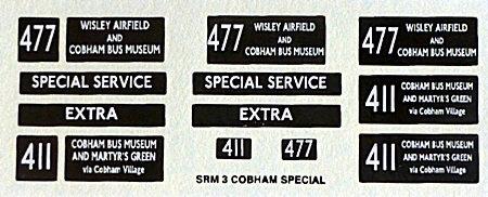 SRM  Routes 411/477 (Cobham Special)