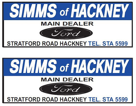 LOWER REAR ADVERTS SIMMS FORD