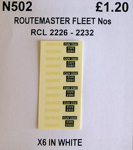 White RCL 2226, 2228, 2229, 2230, 2231, 2232