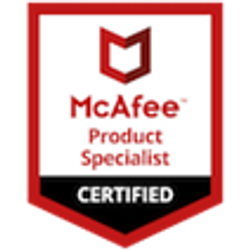 Logo de McAfee product specialist