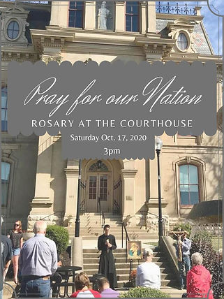 Rosary at the Logan County Courthouse 20