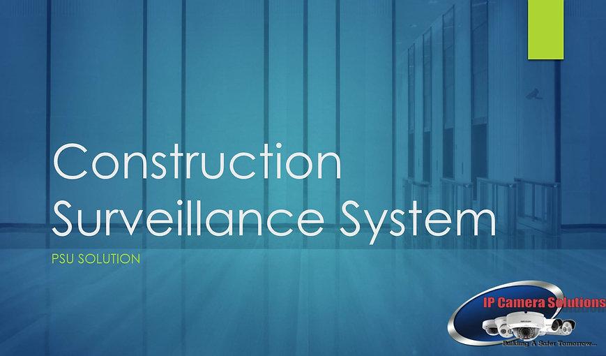 Construction Site CCTV Security