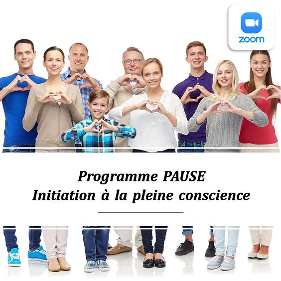 Programme PAUSE - 20 septembre