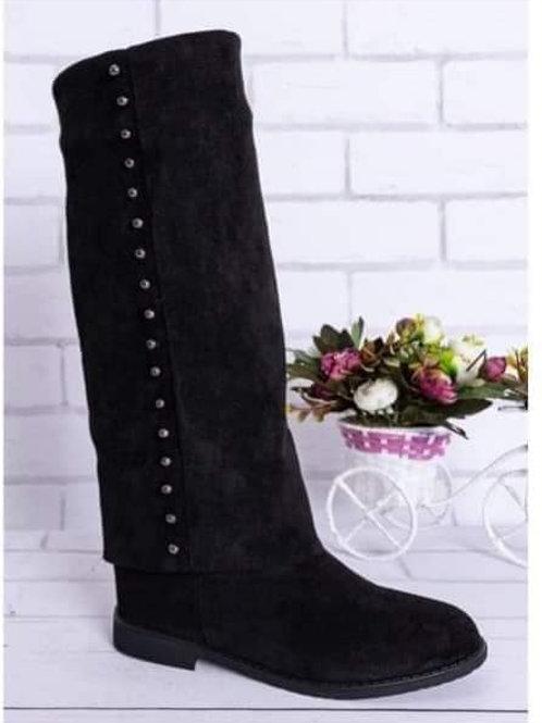 Women's Knee Slip On Boots