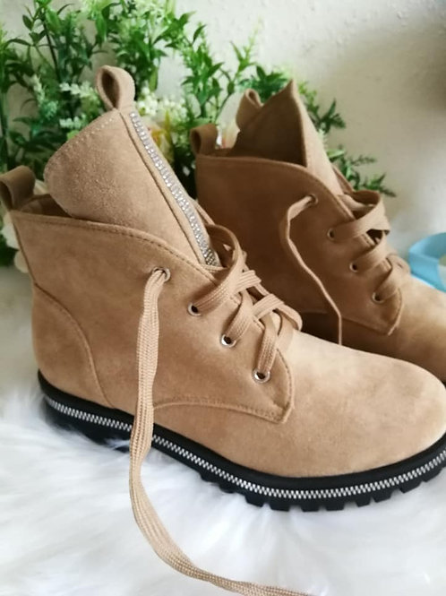 Women's Suede Lace Up Boots