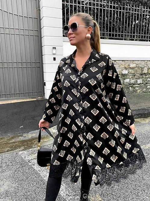 Button Front Satin Dress