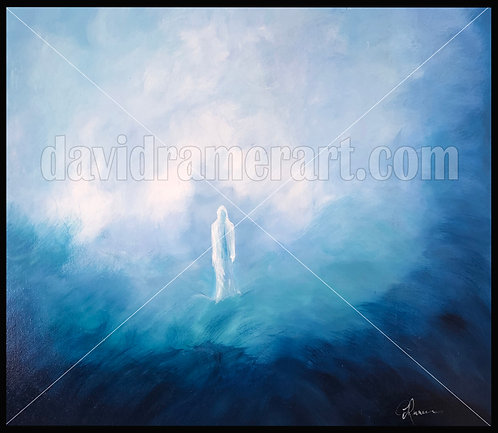 """The Art of Walking on Water (30""""x24""""x1.5"""") Original acrylic on stretched canvas."""