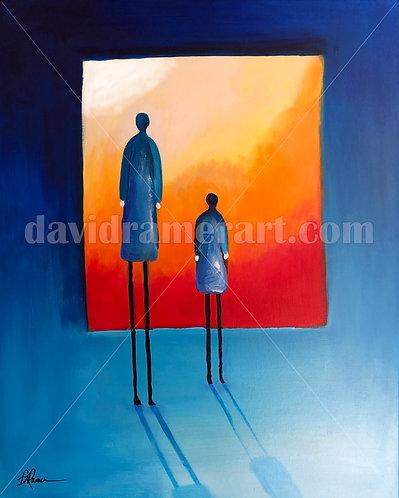 """The Mentor"" (30x24x1.5"") original acrylic on canvas"