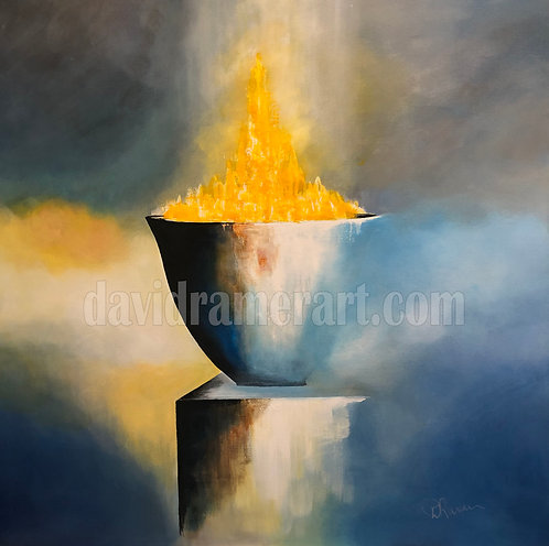 """""""Bowl of Incense"""" (48x48x1.5) Original acrylic on stretched canvas"""