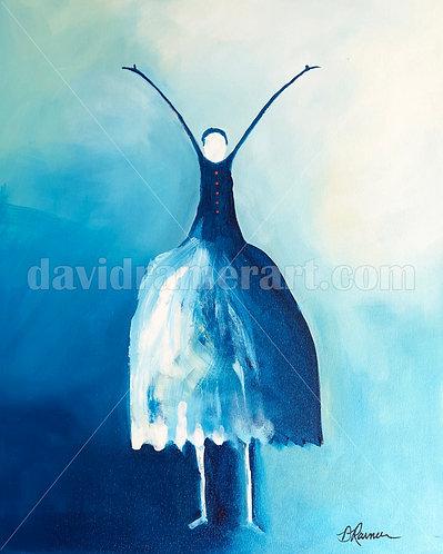 """The Dancer"" (30x24x1.5"") original acrylic on canvas"