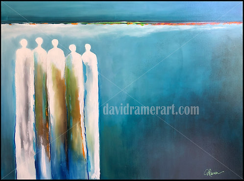 """Deep Cries Unto Deep"" (30""x40""x1.5"") original acrylic on canvas"