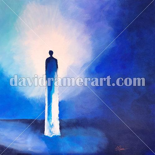 """The Encounter"" (36x36x1.5"") original acrylic on canvas"