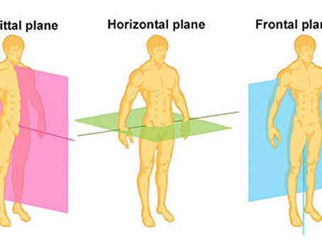 Moving in all planes of motion: Sagittal, Frontal, and Transverse