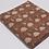 Tissu au mètre voile de coton motif floral beige fond marron imprimé block print
