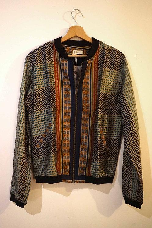 Bomber en soie/blouson vintage/ blouson soie/ethnic chic/vêtements bohème chic/ikks bomber/zenethique/veste reveillon/IKKS