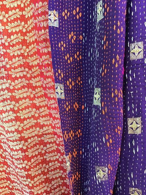 Plaids anciens/plaids vintage/plaids indiens/indian plaids/tissus Inde/tissus indien/indian bed throw/tissus figeac/bedcover
