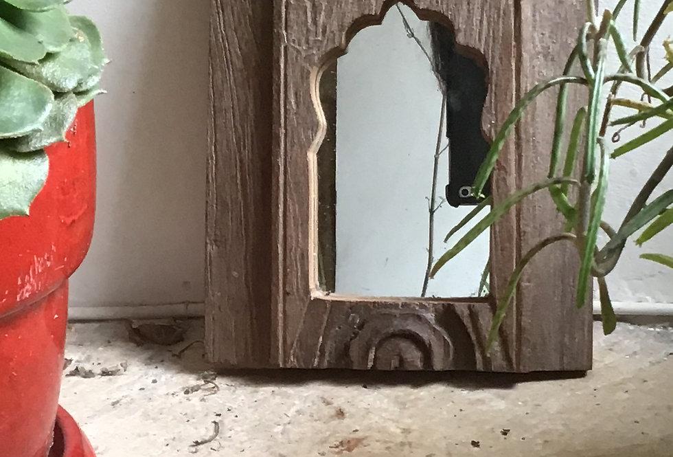 Miroir en bois patine ancienne type oriental/arabesque/miroirs indiens/patines anciennes/meubles indiens/Maison du monde/Inde