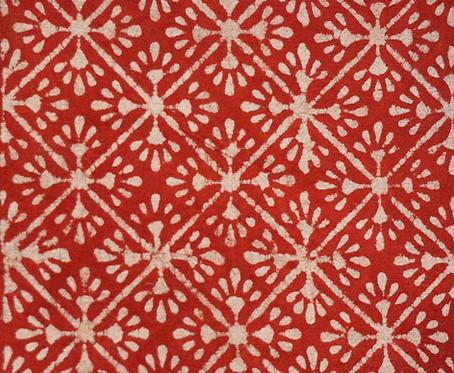 Matelas 180X75 charpoy/motif étoiles rouge/matelas motif/matelas indigo