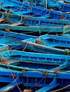 Le bleu des barques d'Essaouira
